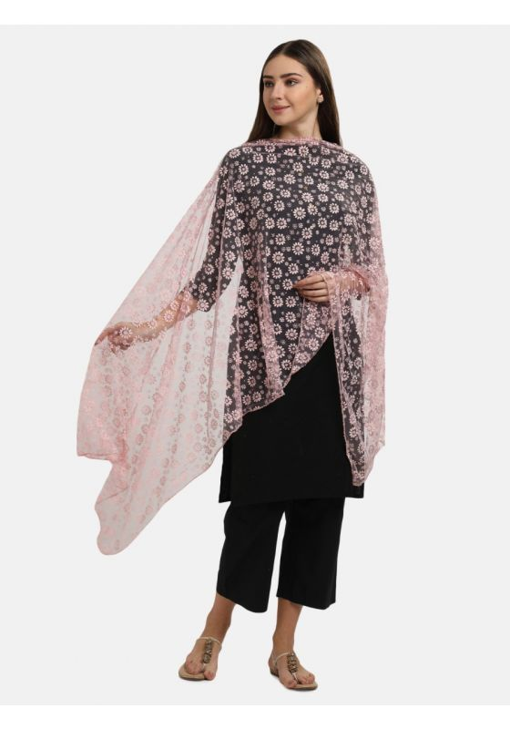 Pink floral Stole