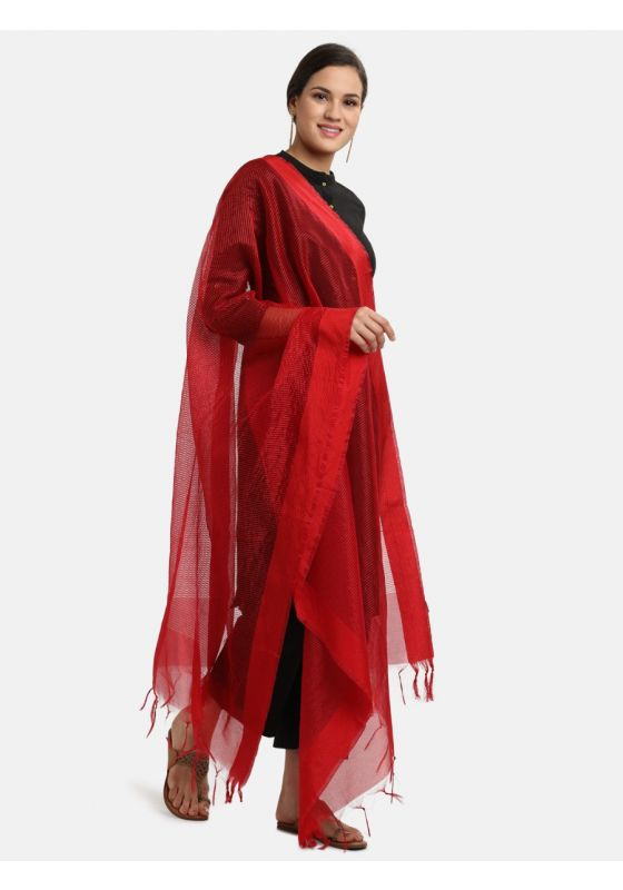 red striped dupatta