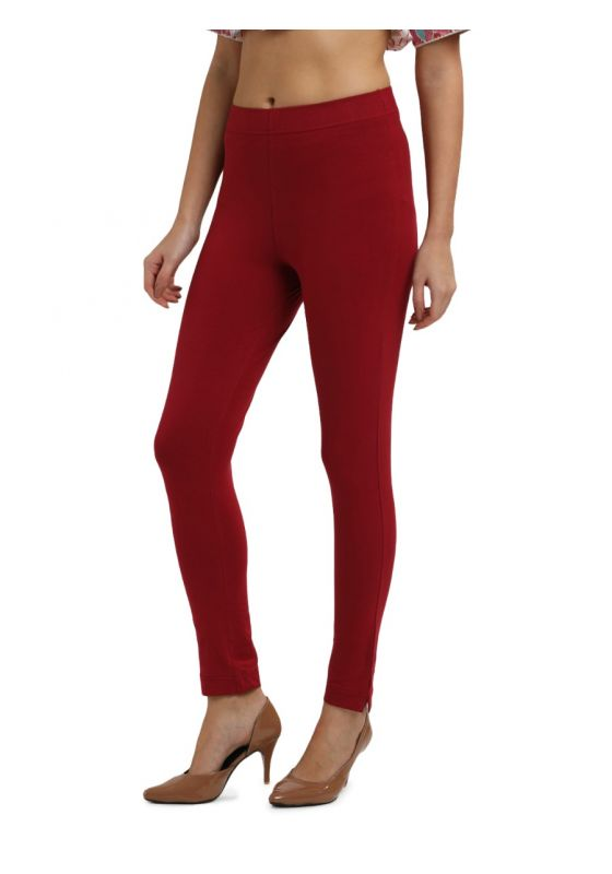 Ankle length Knit Cotton Lycra Pant with Elastic Waistband and a pocket with zip and a slit near the ankle. Pair them with your favourite tunic,kurti , Anarkali etc
