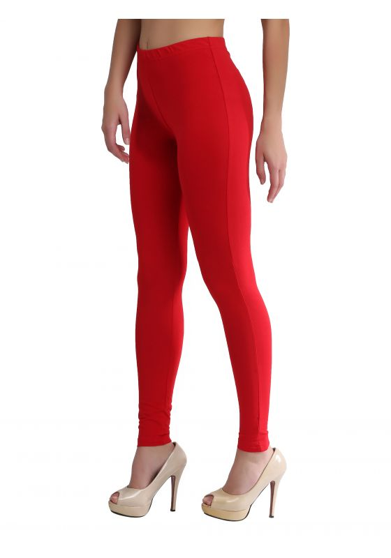 Bright Red Ankle Length