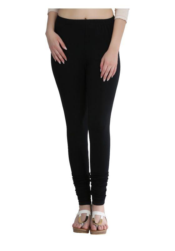 Black Cotton Lycra Churidar Legging
