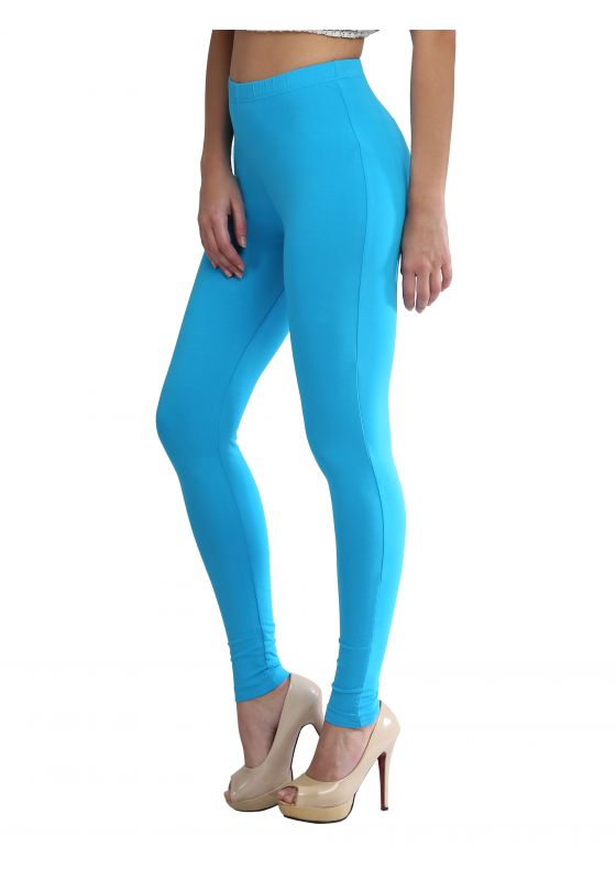 Deep Sky Blue Ankle Length