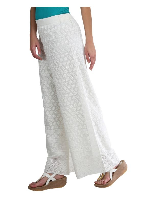 Hakoba Palazzo Off White-Off comfortable loose