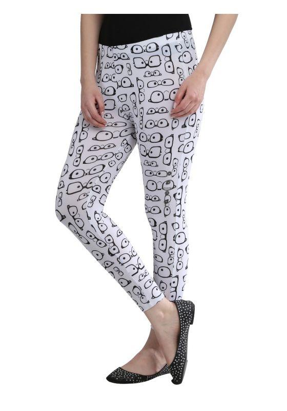 Spectical Printed Legging design black and white comfortable