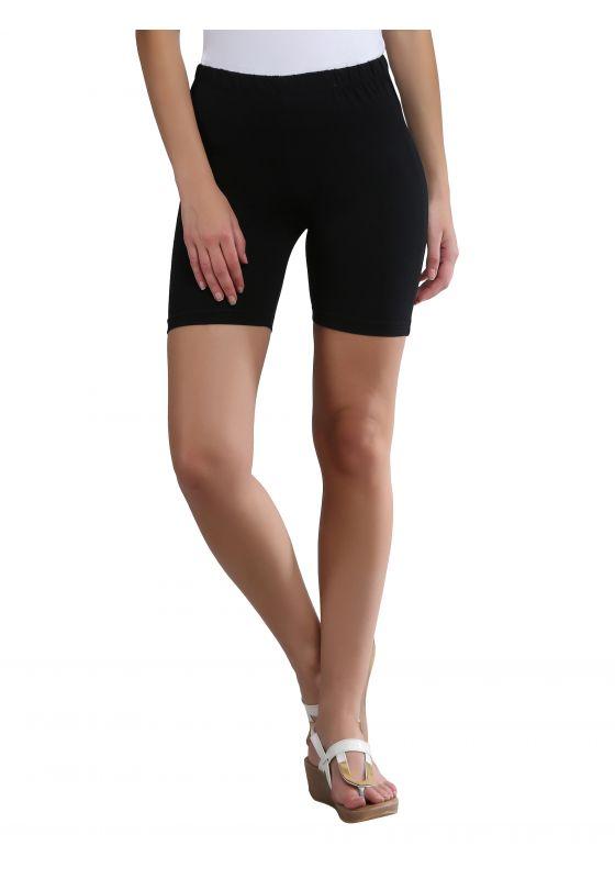black soft comfortable cotton lycra shorts