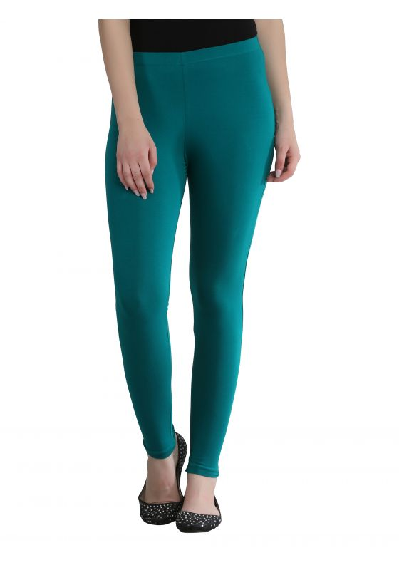 Dark Aqua Green Ankle Length