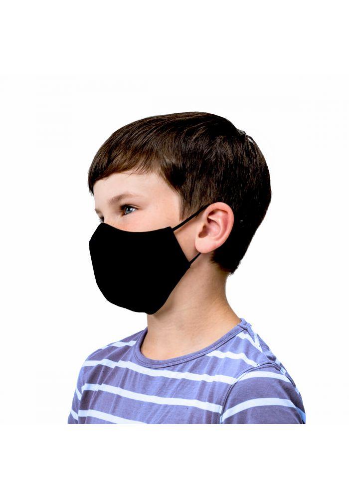 Black Kids Cotton Unisex Face Mask ( 2 pieces)
